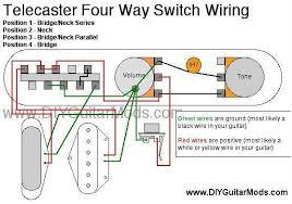 telecaster 4 way switch wiring diagram cool guitar mods