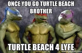 Nude Beach Meme - once you go turtle beach brother turtle beach 4 lyfe nude