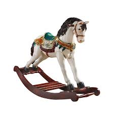 amazon com design toscano victorian carousel pony rocking horse