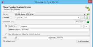 how to generating db specification from database u003e