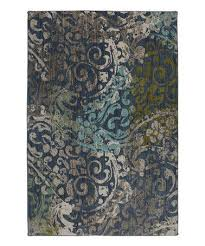 Posh Luxury Bath Rug Blue Paisley Swirl Rug Zulily Zulilyfinds Home Decor Rugs