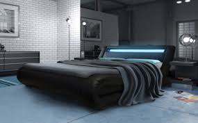 curved bed frame new modern curved designer double king size bed multi colour led