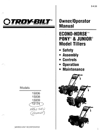 troy bilt tiller 15008 user guide manualsonline com