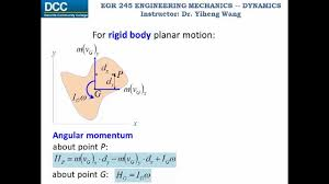dynamics lecture 32 impulse and momentum for rigid planar