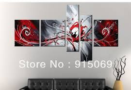 meetings interior wholesale black red white abstract wall art