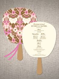 Cute Wedding Programs 6 Best Images Of Cute Wedding Program Fan Template Rustic Mason