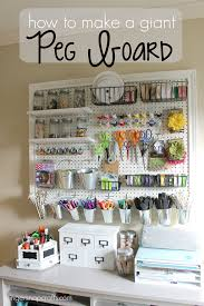 ginger snap crafts how to make a giant peg board tutorial storage