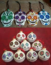 christmas skull decorations