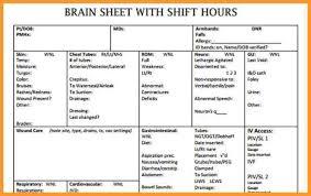 Shift Report Sheet Template Nursing Report Sheet Template Letter Format Mail