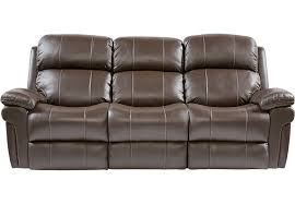 trevino chocolate leather reclining sofa sofas brown