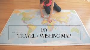 Where I Ve Been Map Diy Travel Wishing Map Cathydiep Youtube
