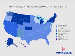 Diner Drive Ins And Dives Map What U0027s The Most Popular Fast Food Spot In Your State Fn Dish