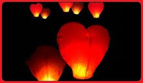 fireworks lantern heart shaped sky lantern blackpool fireworks shop 01253 205974