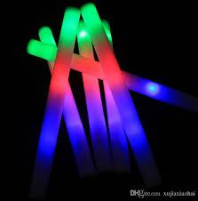glow sticks colourful sponge glow stick led foam stick foam light sticks