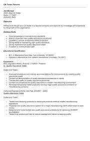 Qa Qc Inspector Resume Sample by Quality Assurance Resume Quality Assurance Job Description Resume