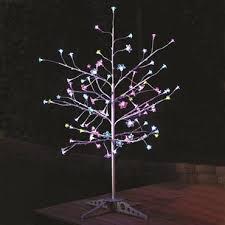 exhart silver led tree 9 color changing leds no l bfg supply