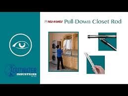 rev a shelf pull down closet rod youtube