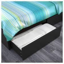 malm high bed frame 2 storage boxes u2013 luröy u2013 ikea with regard to