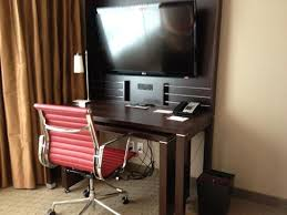 tv stand and desk with more outlets picture of residence inn