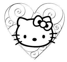 kitty coloring pages color free coloring pages