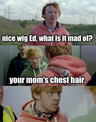 Your Moms Chest Hair Meme - love ed and rupert mia isabelle pinterest ginger jokes and memes