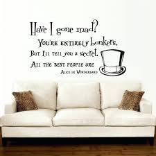 wall ideas alice in wonderland wall decal quote vinyl sofa wall