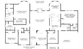 4 bedroom house plans 1 story blueprints 4 bedroom house tarowing club