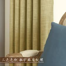 Thermal Window Drapes Aliexpress Com Buy Thick Blackout Curtains Bedroom Cotton Linen