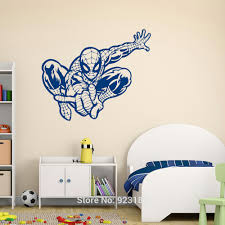 blue spiderman 2d wall decals large blue spiderman silhouette wall decals