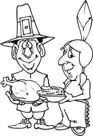 Indian Thanksgiving Thanksgiving Indian Pilgrim Thanksgiving Coloring Pages Pilgrims
