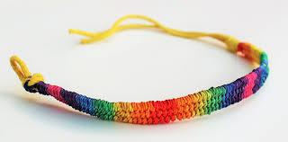 friendship bracelet rainbow images Woven rainbow friendship bracelet rainbowshop JPG