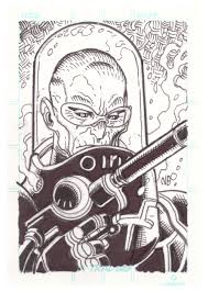nick bradshaw mr freeze sketch card in patrick brooks u0027s