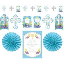 first communion decorating kit blue the catholic company