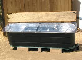 galvanized horse trough bathtub diy horse trough tub feed
