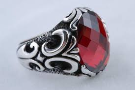 ruby stone rings images 925 sterling silver turkish jewelry ruby stone men 39 s ring size 8 5 jpg