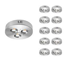 puck under cabinet lighting 10 pcs lot 3w led under cabinet lighting puck lights 25 watt