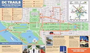 Washington Dc Area Map by Dc Trail U0027s Hop On Hop Off Bus Tours Of Washington Dc