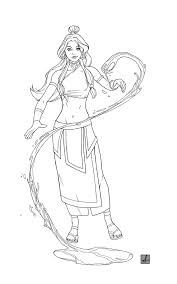 katara linework by sean izaakse on deviantart
