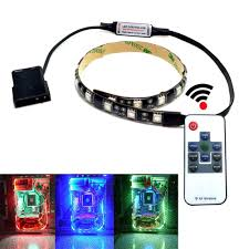 rgb led strip lighting amazon com autai rgb led light strip with remote control and