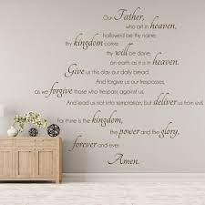 our father who art in heaven lords prayer religious wall stickers