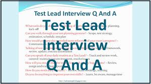 Best Resume Questions by Test Lead Interview Questions And Answers Youtube