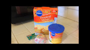 pillsbury mango flavored cake mix review march 24 2016 youtube