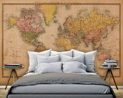 map mural mural map vintage 2 sepia walldesign56 wall decals