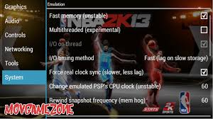 best ppsspp setting nba 2k13 gold v 1 2 2 free psp games