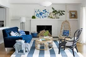 Blue Color Living Room Designs - Blue color living room