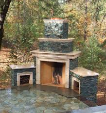 outdoor stone fireplace warming up exterior space traba homes