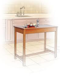 kitchen island table canadian woodworking magazine