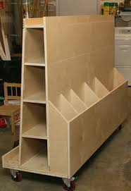 Wooden Storage Rack Plans by Separate Bins Of Varying Height Make It Easy To Sort And Retrieve