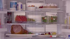 mitsubishi electric refrigerator classic french door fridges youtube