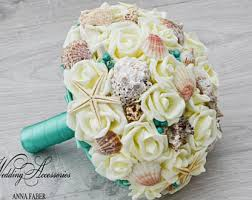 seashell bouquet bouquet etsy